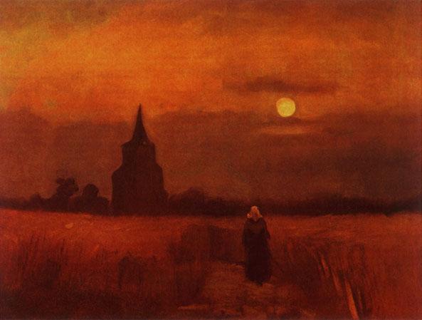 """Vincent van Gogh, """"La vecchia torre nei campi"""" (1884)"""