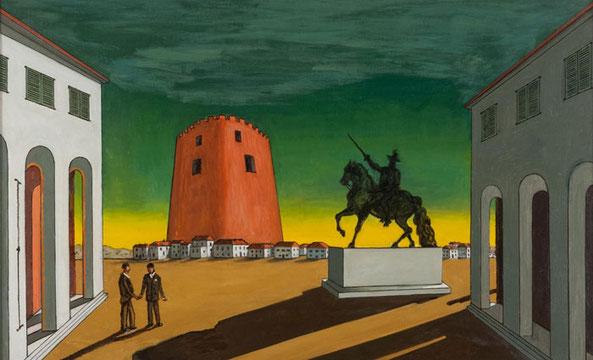"""G. De Chirico, """"Piazza d'Italia"""" (1953)"""
