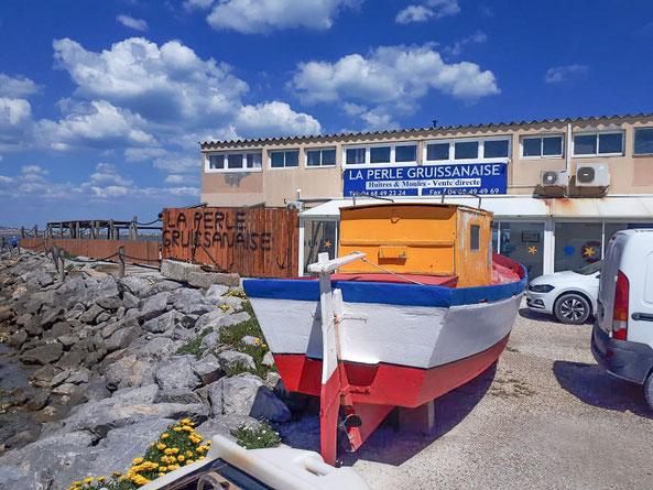 Bild: Verkauf von Muscheln und Austern in Gruissan