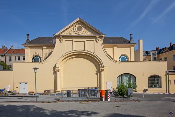 Das Tempelhofer Tivoli an der Friedrich - Karl - Straße. Die Rückseite des ehem. Saalbaus heute.