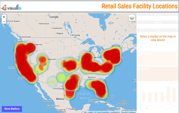Visual BI Extensions heat map