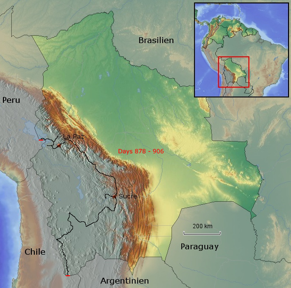 Übersichtskarte von Bolivien