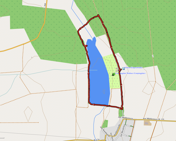 GPX-Track 2,5 km Rund um den Marother Waldsee