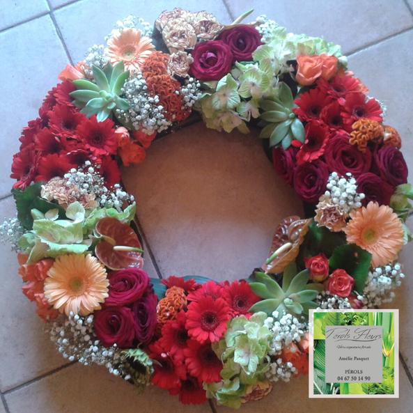 Perols fleurs, fleuriste enterrement, cérémonie deuil