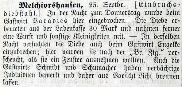 Syker Zeitung 28.09.1909