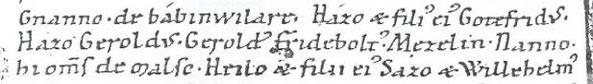 namentliche Nennung der 8 Malscher im Reichenbacher Schenkungsbuch