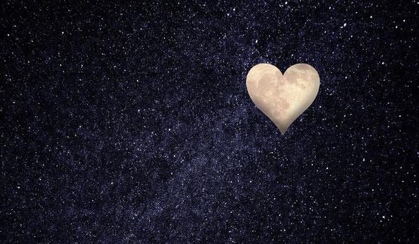 Herz, Universum, Sterne, Liebe, Partnersuche, Einsamkeit
