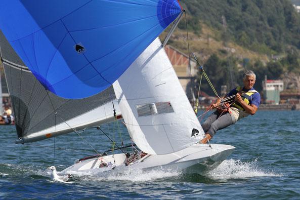Antonio Capizzi a prua su ITA15054 con Fabio Palermi