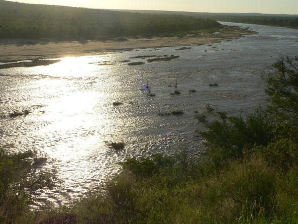 Kruegerpark, Abendstimmung am Fluss