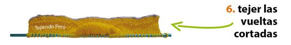 Pantuflas con lazo tejidas en dos agujas o palitos en 3 tallas