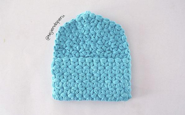 Clutch tejido a crochet en punto jazmín