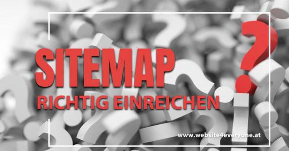 sitemap richtig einreichen