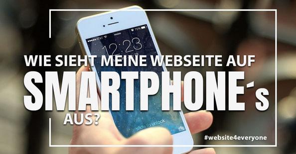 smartphoneansicht webseite