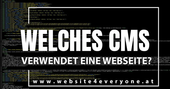 welches cms verwendet eine webseite?