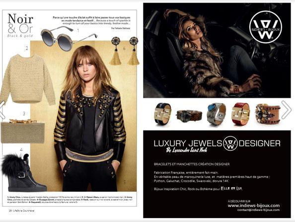 bracelet python, bracelet swarovski, magazine luxe, courchevel