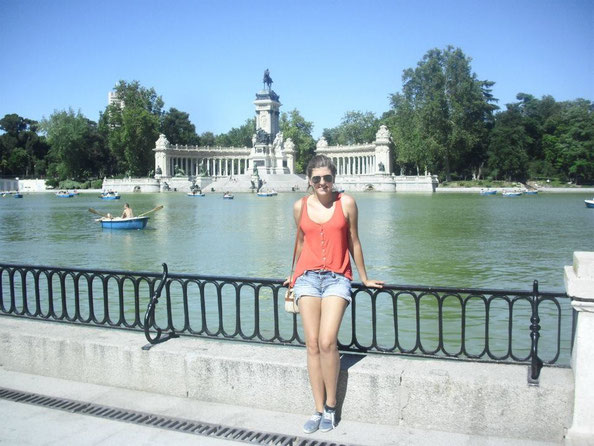 Me at Retiro, Madrid