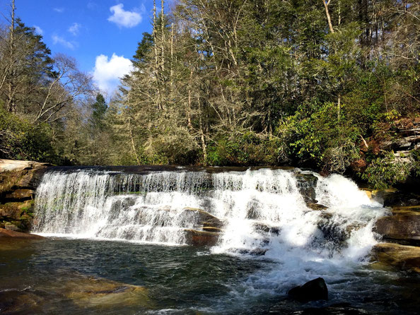 Balsam Grove, NC; Living Waters Ministry: French Broad Falls