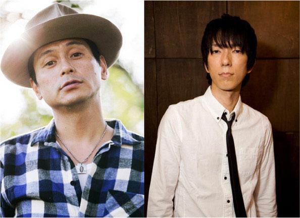 いわきにもゆかり深い渡辺俊美(左)と富澤タク(右)がスペシャルライブゲスト。