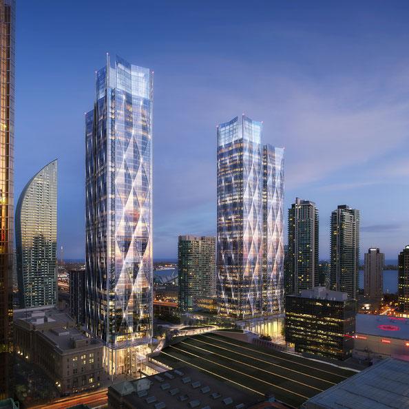 CIBC Square in Toronto, image via Wilkinson Eyre