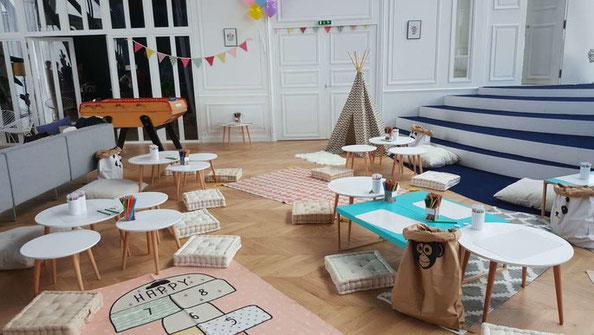 Les Coins Heureux wedding planner Paris et France organiser son cocktail et dîner de mariage : espace pour les enfants