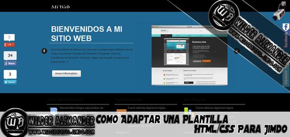 Como Adaptar Una Plantilla HTML/CSS Para Jimdo (MEJOR EXPLICADO)
