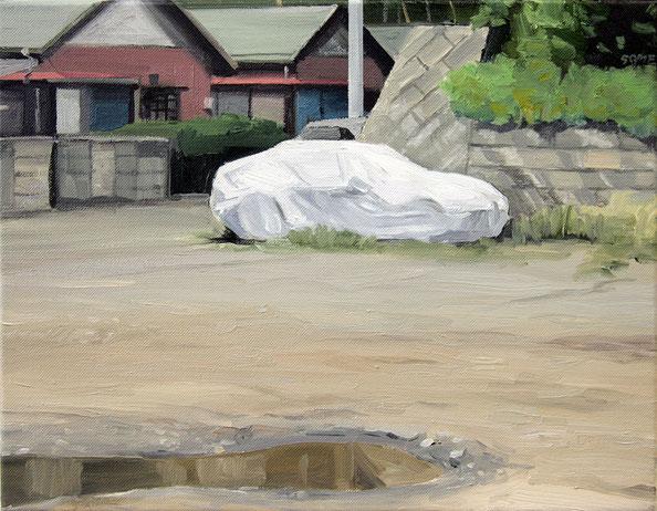Daisuke Samejima / sunday / 31.8×41.0cm / oil on canvas / 2010