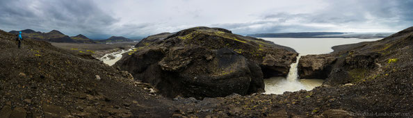 Panorama taken from Nýifoss with Hagavatn, Eystri Hagafellsjökull, Einifell and the Jarlhettur