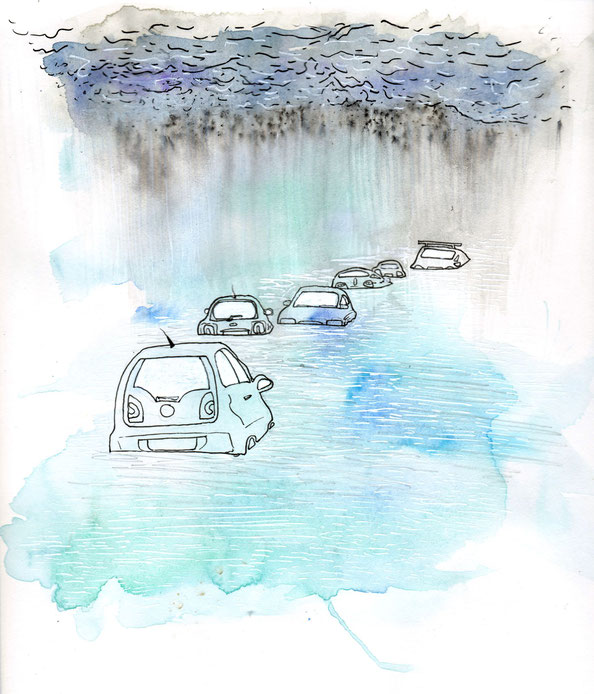 Helen Wyatt, Bristol, Storm Angus, flooding, art
