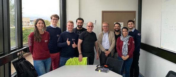Jack Hidary and Prof. De Micheli with members of the EPFL Quantum Computing Association