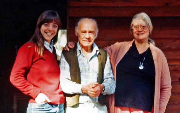 Avatars Abode Anniversary. 1981 : Filis with Francis Brabazon & Ursula Reinhart