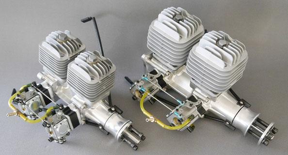 Bild: DLA 64 und DLA 116 Reihenmotor