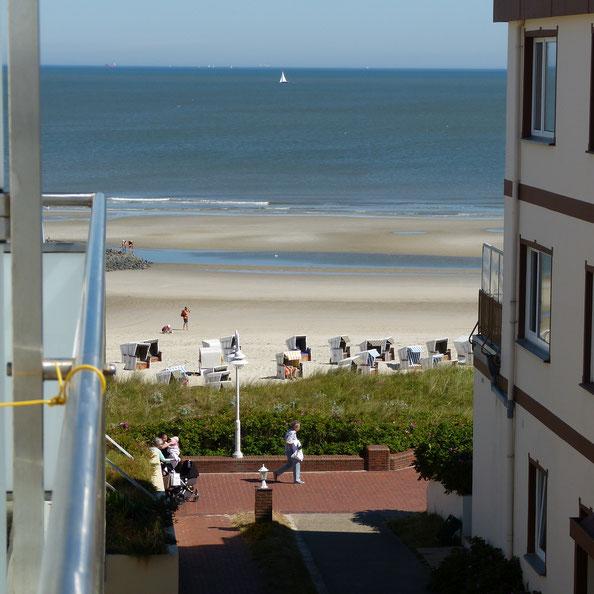 Ferienappartement Wangerooge mit seitlichem Meerblick