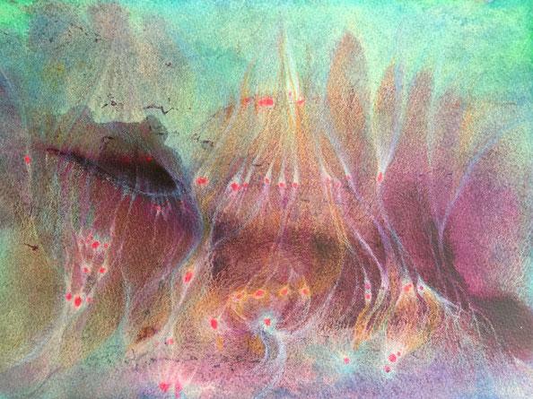 直感アート絵画(同じ絵で上下が逆さまの画像) by 青木せい子