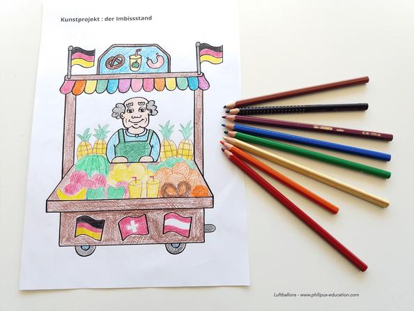 projet artistique Der Imbissstand (allemand au cycle 2)