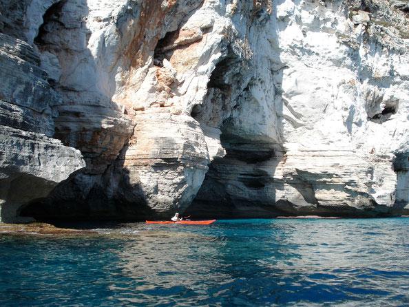Kayak de mer Minorque