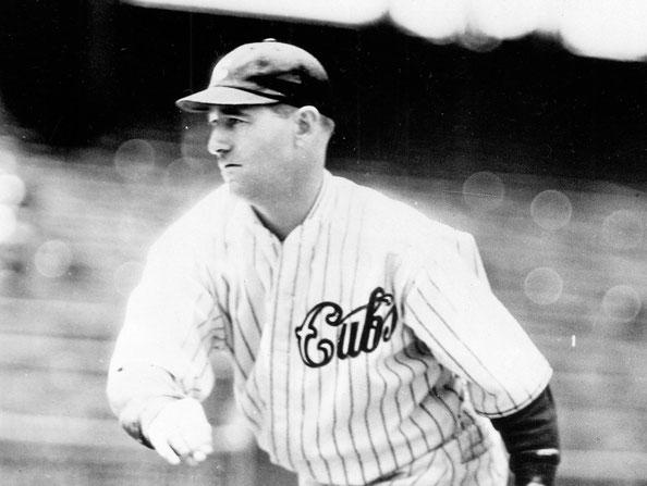 Nella foto Charlie Root, il lanciatore dei Cubs di quella partita