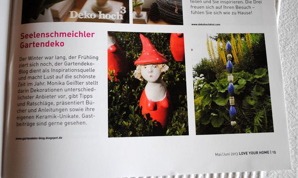 Landhausidyll-Gartenkeramik im Love-Your-Home-Magazin