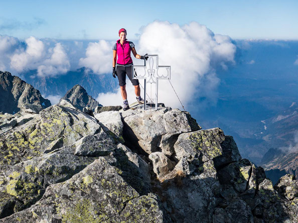 Auf dem Gipfel des 2.560 Meter hohen Vysokà