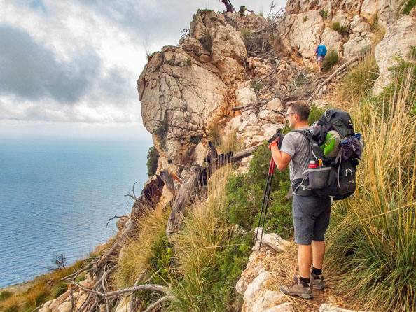 Mehrtagestrekking auf dem GR 221 auf Mallorca - Etappe 3 der Wanderung von Ses Fontanelles nach Estellencs