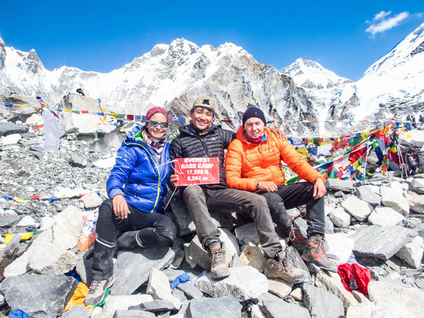 Everest-Base-Camp-Team 2017: Myri, Dill und Daniel