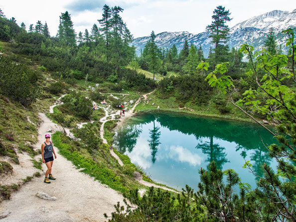 6-Seen-Wanderung im Salzkammergut - dem größten Seenhochplateau in Mitteleuropa. Hier zu sehen - der Märchensee.