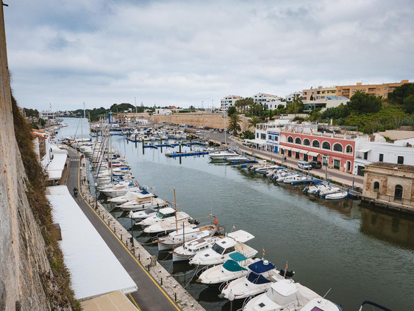 Der Naturhafen von Ciutadella