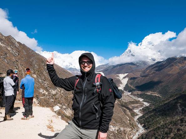 Das ist er der Everest oder Sagarmatha oder Qumolangma