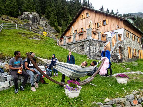 Ankunft auf der Ludwigsburger Hütte