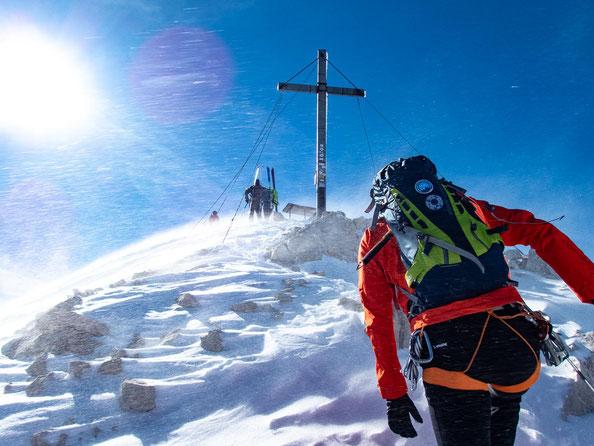 Endspurt zum Gipfel der Alpspitze