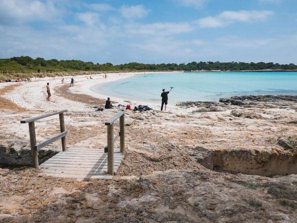 Die Bucht Son Saura. Im Mai ist hier nicht viel los.