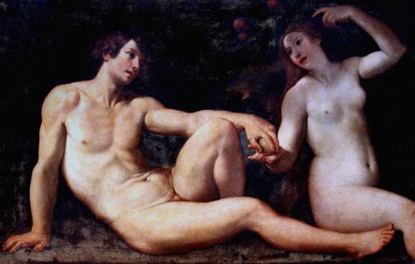 © Jean Louis Mazières by Flickr.  Adam und Eva von Francesco Albani (1578- 1660) Musée des Beaux Arts de Bruxelles.
