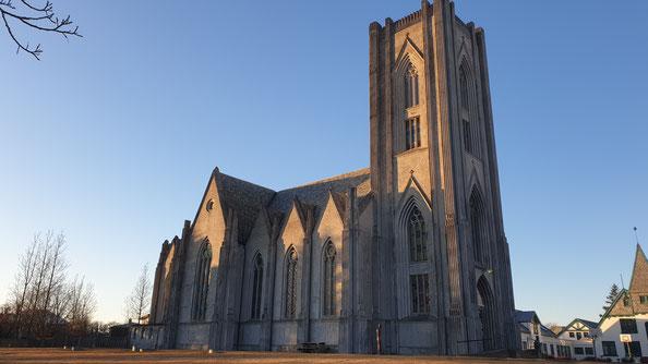 Die Kathedrale Landakotskirkja des katholischen Bistums in Reykjavik
