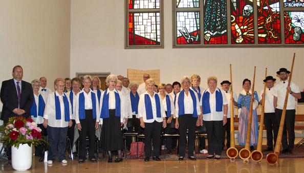 Alphorn-Messe von Emil Wallimann mit Alphornquartett Imlig