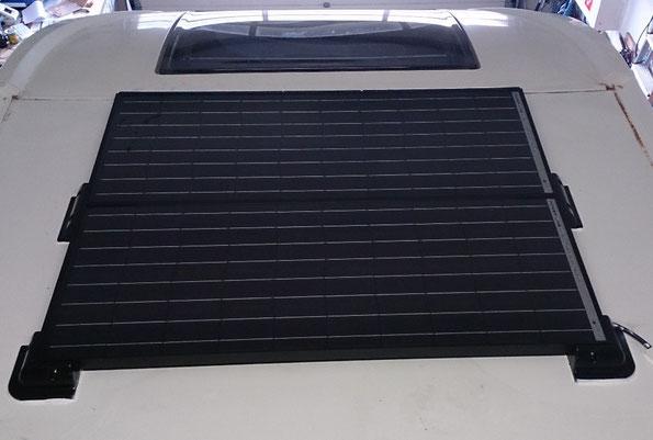 Solaranlage 220Wp platzsparend und sicher verbaut